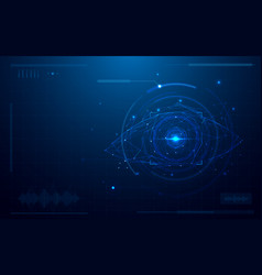 Abstract futuristic digital eye scanner concept vector