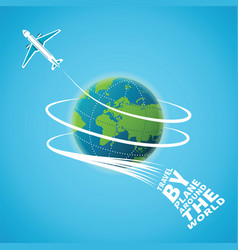 Air travel around the world concept vector