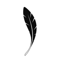 american feather icon simple style vector image