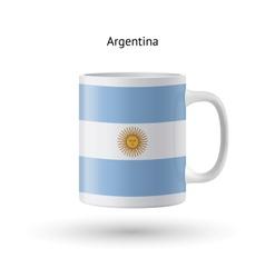 Argentina flag souvenir mug on white background vector