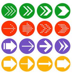 arrow icon collection vector image