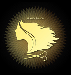 beauty salon and hairdresser unique design vector image