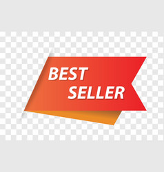 bestseller tag for webpage vector image