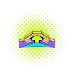 Bridge icon in comics style vector image