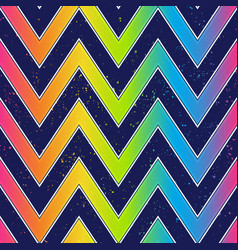 bright zigzag seamless pattern with grunge effect vector image