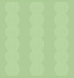 cable knit green pattern vector image