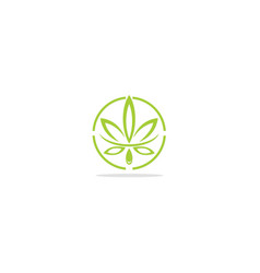 cannabis leaf eco logo vector image