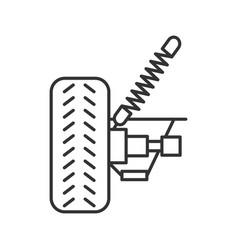 Car suspension linear icon vector