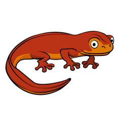 Cartoon newt vector