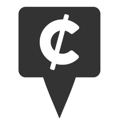 Cent map pointer flat icon vector