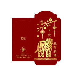 Chinese new year 2021 lucky red envelope money vector
