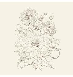 Chrysanthemum isolated design vector image