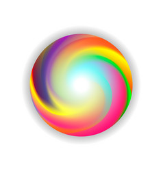 color ball on white background vector image