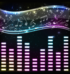 colorful music eq background vector image