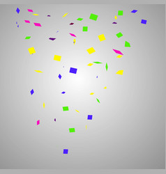 confetti isolated on transparent background vector image