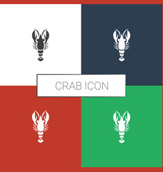 Crab icon white background vector