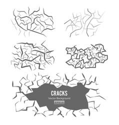 Cracks in ground 3d vector