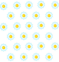 daisy wallpaper on white background vector image