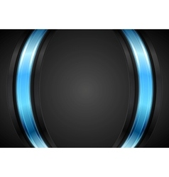 Dark corporate background with glow blue light vector