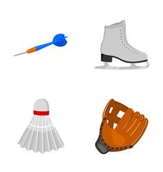 darts darts white skate skates badminton vector image