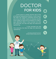 doctor and children healthcare background vector image