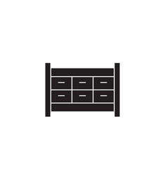 file cabinet drawer black concept icon vector image