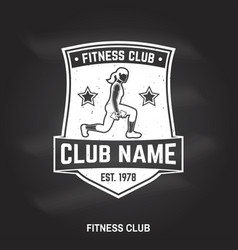Fitness centre badge for fitness centers vector