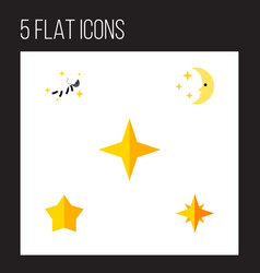Flat icon bedtime set of starlet star asterisk vector