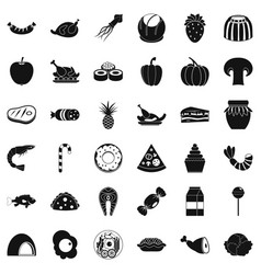 flour icons set simple style vector image