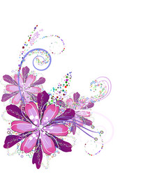 Flower arrangement in lilac vector