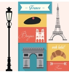 France culture design vector image