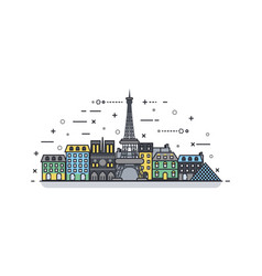 french icon linear style vector image