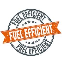 Fuel efficient round orange grungy vintage vector