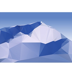 Geometric Mountains vector image