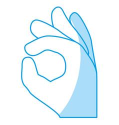 Gesture ok hand vector