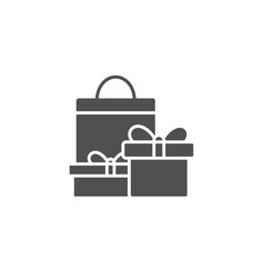 gift boxes simple icon present sign vector image