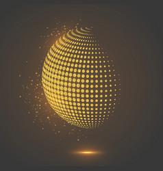 glitter abstract globe dotted sphere vector image