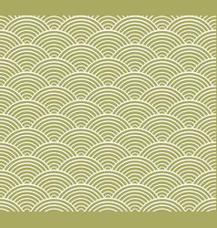 Green seigaiha japanese wave pattern vector