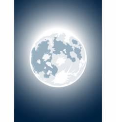 Halloween full moon vector