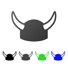 horned helmet flat gradient icon vector image