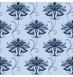 Indian blue lace flowers seamless pattern vector