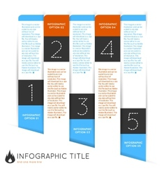 Infographics options banner steps set with icons vector image