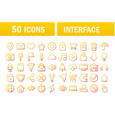 interface internet web technology digital icons vector image