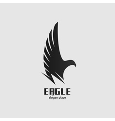 Isolated black eagle logo graphic bird vector