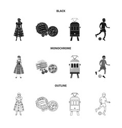 Isolated object and historic symbol collection vector