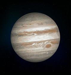 jupiter realistic planet vector image
