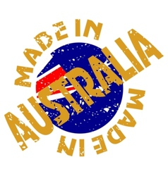 Label Made in Australia vector