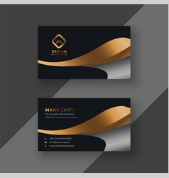 Luxury golden premium business card template vector