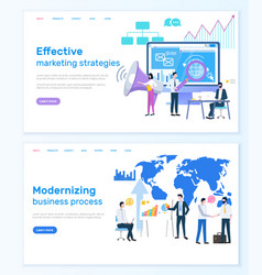 Marketing strategies modernizing business process vector