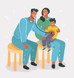 medical examination of a child vector image